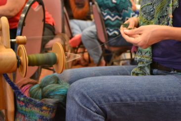 Spinning at the Florida Fiber-In 2013. photo by Angie Presby