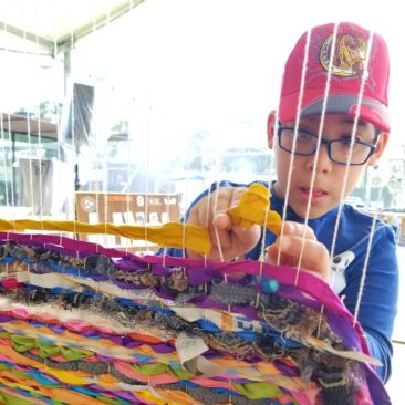 Spinning Demonstrations and Interactive Street Loom