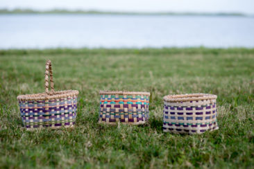 Student baskets from a 2 day camp out workshop at Fort Desoto in 2015