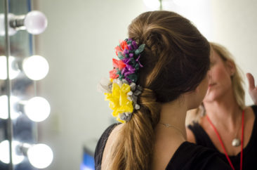 Casey Cheek applying makeup