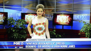 Doily Dress on local news