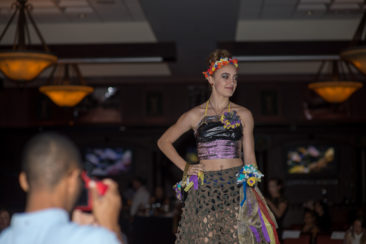 student work on the runway