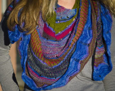This shawl won Best Use Of Color in the FTWG Members show