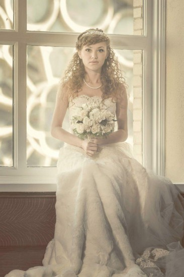 Faux Wedding Dress created with safety pins and found textiles for this image by Joseph Siciliano